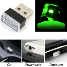 1PC USB LED Car Interior Light Neon Atmosphere Ambient Lamp Bulb Green Decorate