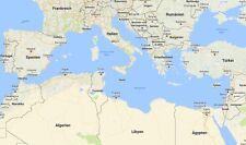 Topo*Mittelmeer*MicroSD Karte*GPS map*Garmin*Geocaching*Wandern*Mountainbiking