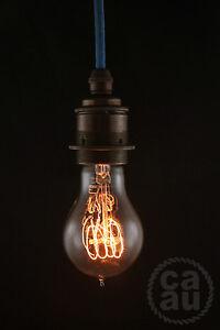 Edison vintage round light bulb: globe lamp 5000 hours E27 screw in 40 watt