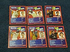 2008 Weetbix Cricket Stat Attack Trading Cards. Lot of 6. Excellent Condition.