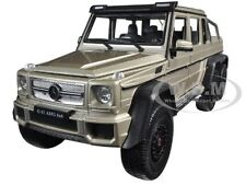 MERCEDES G 63 AMG 6X6 GOLD 1:24 DIECAST MODEL CAR BY WELLY 24061