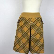 Anthropologie Taikonhu Motto Plaid Cotton Spandex Blend Lined Skirt Sz M