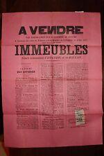 ✒ IFFENDIC SAINT MAUGAN MONTFORT SUR MEU Affiche vente enchères 1897 (1)