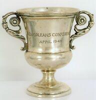 1949 NEW ORLEANS MATCH HOLDER GRAFF WASHBOURNE DUNN STERLING SILVER TROPHY CUP