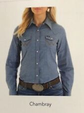 Machine Washable Solid Western Tops for Women