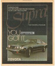 1979 Toyota Celica Supra Black Vtg Print Ad