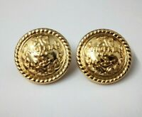 Genuine Nigerian Navy Issue Eagle and Anchor Insignia Ring Back Buttons X2 V0344