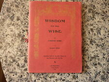 Wisdom for the Wise by Lorenzo Sosso. San Francisco earthquake 1906
