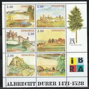 Souvenir sheet of 6 MNH stamps Albrecht Durer paintings engraves Landscapes **