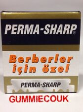PERMA SHARP SINGLE EDGE PROFESSIONAL RAZOR BLADES 100 PIECES ***FREE DELIVERY***