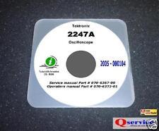 """Tektronix 2247A Oscilloscope Service + Operating Manuals CD 17""""x11"""" A3 Diagrams"""