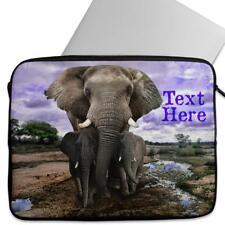 Personalised Laptop Cover AFRICAN ELEPHANT Neoprene Sleeve Case Universal KS09