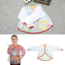 Child Toddler Craft Waterproof Long Sleeve Artist Cooking Painting Apron Smock