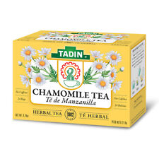Tadin Natural Herbal Tea Manzanilla / Chamomile. No Caffeine. 24 Bags. 0.84 Oz