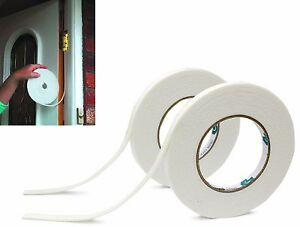 9mm Foam Draught Excluder Weather Seal Strip Insulation Door Window Frame Tape