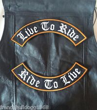 Live to Ride Ride to Live Patch Banner XL Set je 33x6 cm Kutte MC Biker Chopper
