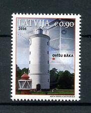 Letonia 2016 estampillada sin montar o nunca montada Faro ovisi 1v Set Faros edificios sellos