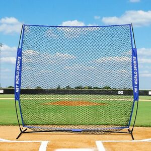 FORTRESS Baseball Cricket 7' x 7' Practice Screen | Pop Up Backstop Netting