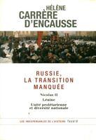 Livre Russie la transition manquée Hélène Carrère d'Encausse book