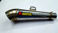 AKRAPOVIC Cobra Stainless Steel Exhaust Silencer with DB killer For All Bikes
