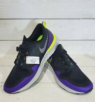 Nike Men's Odyssey React 2 Shield Black Metallic Silver Running Shoes Size 13