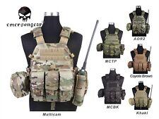 Emerson LBT6094A Style Plate Carrier Vest with 3 Pouches Tactical Vest EM7440