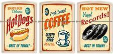 Zippo 3 Vintage Posters, Old Ad, Small Town Americana Cream Matte Rare NEW