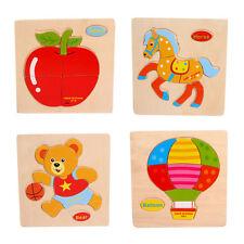 Bois Animal Fruits Voiture Puzzle Éducatif Développemental Enfants Bébé