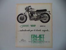 advertising Pubblicità 1969 MOTO ITALJET GRIFON 650
