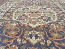 "Exquisite Antique 1940s Natural Dyes 4'4""×6'10"" Wool Pile Legendary Oushak Rug"