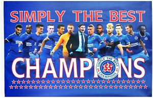 Rangers Champions Flag 55 - 2020/21 Large 5ft x 3ft Heavyweight Flag - SALE!