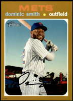 Dominic Smith 2020 Topps Heritage 5x7 Gold #386 /10 Mets