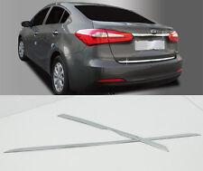 Chrome Rear Trunk Garnish Molding Trim 2P 1Set For 2013 2014 2015 Kia Forte : K3