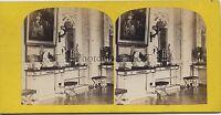 Francia Il Grand Trianon Versailles Foto Stereo Vintage Albumina Ca 1860