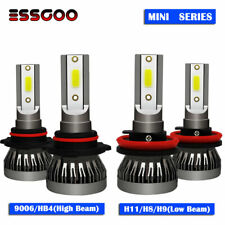 4X 9006 + H11 LED Headlight Kit High Low Beam Bulbs 9000LM 72W 6000K Xenon White