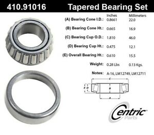 For Dodge Ramcharger  D150 Front Outer Wheel Bearing and Race Set Centric Parts