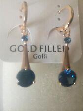 Pendientes Gold filled cristal de Austria azul,antialergico,no cambia de color