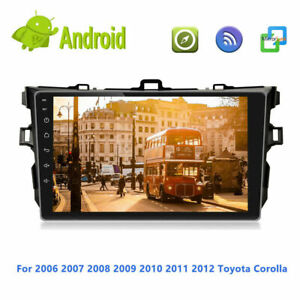 9'' 2din Android 10 Car Radio GPS Audio Stereo For Toyota Corolla 2006-2013