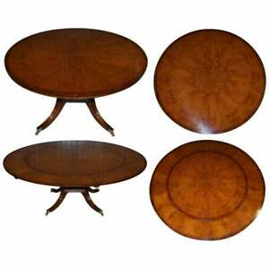 BRAND NEW CLUSTER OAK EXTENDING JUPE ROUND DINING TABLES SEATS 6 - 10 PEOPLE