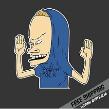 BEAVIS CORNHOLIO Sticker Decal Funny TV Show Cartoon Car Ute 4x4 4WD Truck
