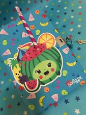"""CUTE! Free HB Pencil ✏️ !! """"Smiggle"""" WaterMeLoN 🍉SCENTED Lockable Diary JournaL"""