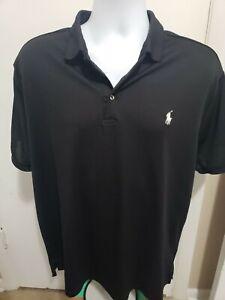 EUC POLO RALPH LAUREN Short Sleeve Performance Golf Shirt Black XL
