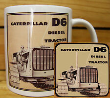 300ml COFFEE MUG WITH MATCHING COASTER - CATERPILLAR D6