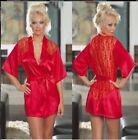 femme lacets Lingerie Sous-vêtement Nuisette Satin Robe en soie pyjama