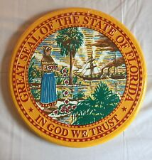 GREAT SEAL OF THE STATE OF FLORIDA  WALL  PLAQUE