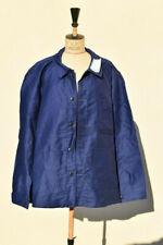Veste bleu de travail vintage en moleskine état neuf jamais portée étiquette T 6