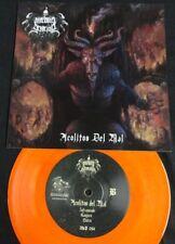 """MACABRO GENOCIDIO - Acolitos Del Mal. 7"""" EP Solid Nuclear Orange Color Vinyl"""