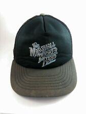 Vintage 80s Marshall Tucker Band Black Hat Snapback Mesh trucker cap
