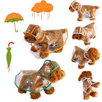 Dog Rain Coat for Small Large Dog Pet Jacket Casual Waterproof Clothes Plastic S