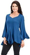 BNWT Holy Clothing Size 3X UK 24-26 'Moira' Sapphire Blue Tunic Top
